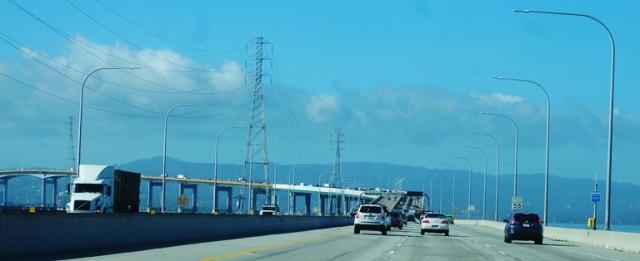 San Mateo Bridge, San Francisco Bay, To the Airport