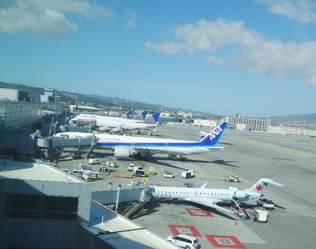 San Francisco Airport, SFO, Planes, United Airlines, Air Canada