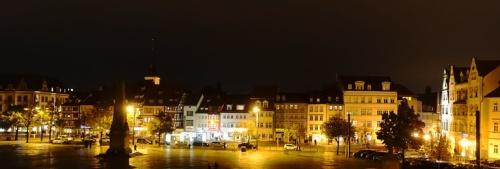Domplatz, Erfurt, Germany, Night View