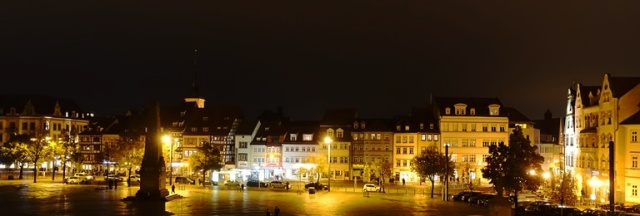 Domplatz, Erfurt, Germany, Night View