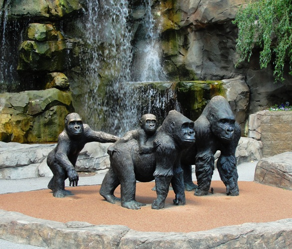 Gorilla Statues, Hubbard Valley Gorillas, Henry Doorly Zoo, Omaha, Best Zoo