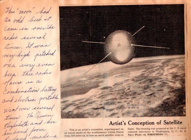 Sputnik, Scrapbook, Clippings, First Hand Account