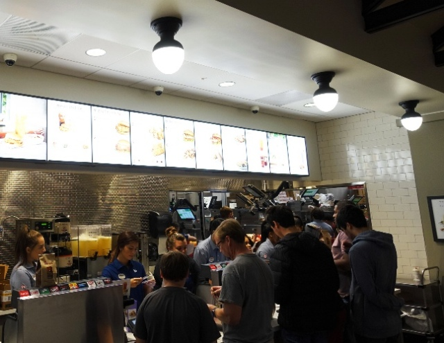 Ordering at Chick-fil-A, Pleasanton, California, Opening Day