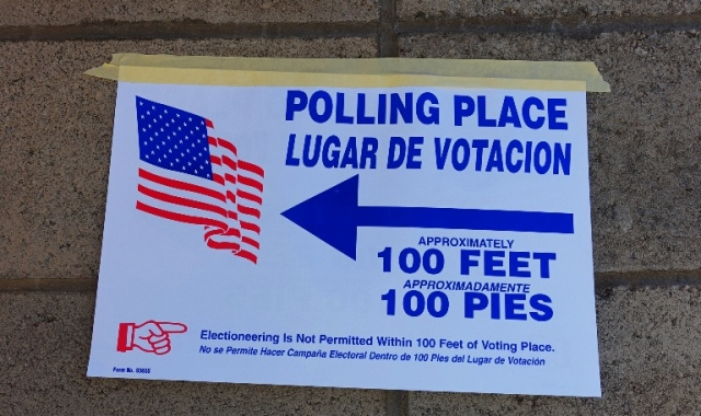 Polling Place, 100 Feet, 100 Pies, No Electioneering