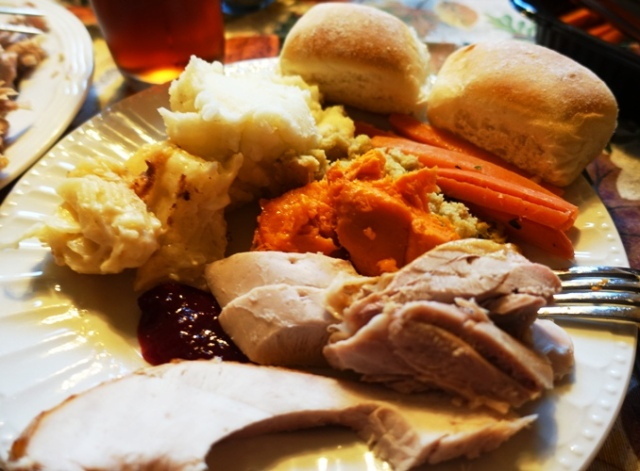 Thanksgiving Plate, Turkey and Fixings, Thanksgiving