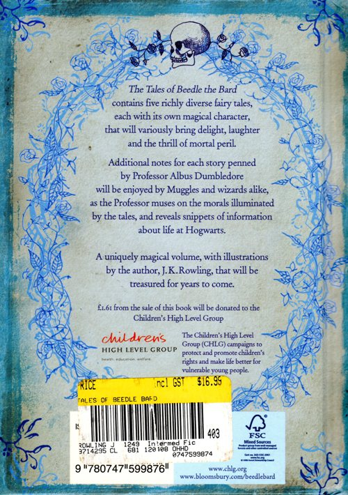 The Tales of Beedle the Bard, J. K. Rowling, Harry Potter