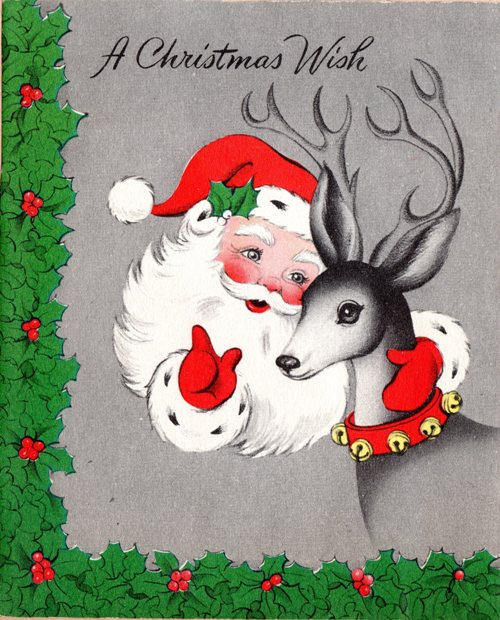Santa, Reindeer, Christmas Wish