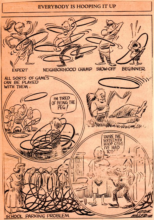 Frank Andrea Miller, Hula Hoop 1968, editorial cartoon