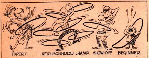 Hula Hoop, 1958, Fad, Frank Andream Miller, Cartoon