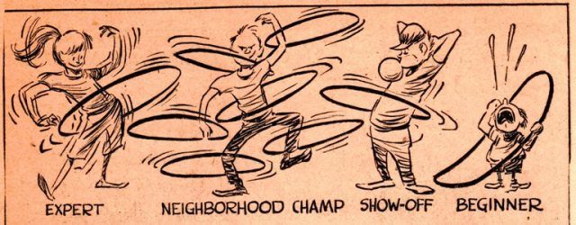 Hula Hoop, 1958, Fad, Frank Andream Miller, Cartoon