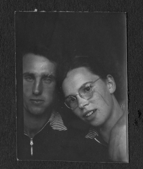 Old Photo Booth Picture, No Smile