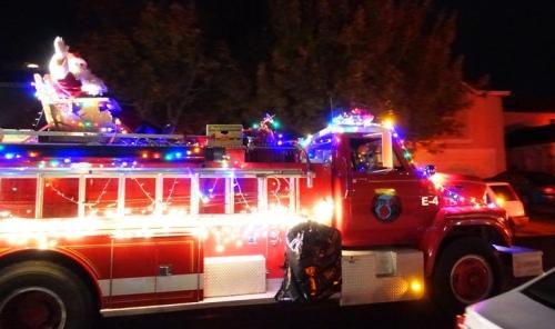 Christmas, Fire truck, Santa Claus, Patterson, California