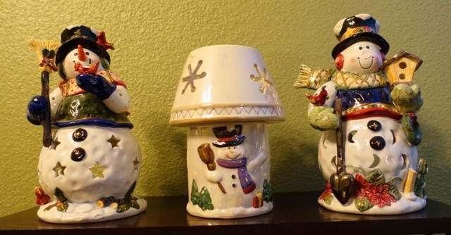 Holiday decorations, snow men, winter, dreaming of a White Christmas