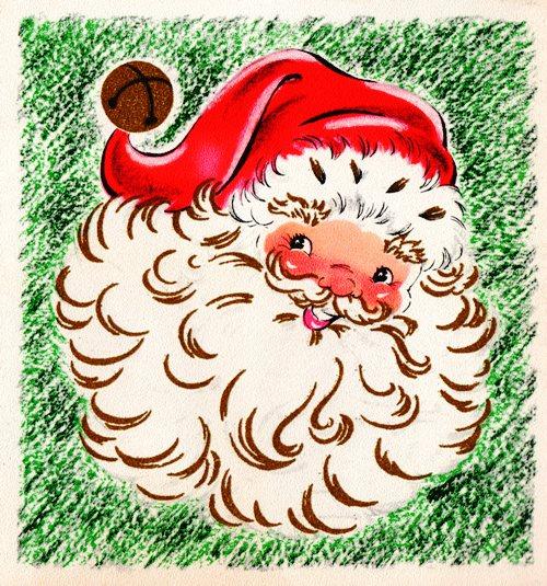 Santa Claus, Classic images, 1960's scrapbook, Christmas