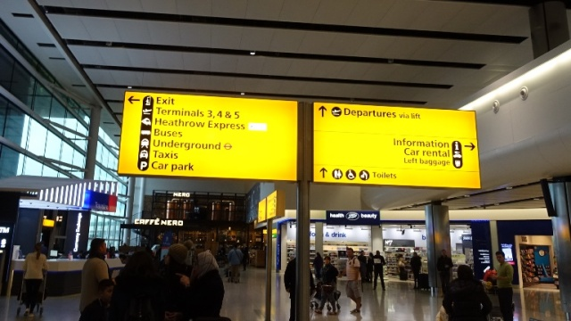 Heathrow Airport, LHR, Airport Direction Signs