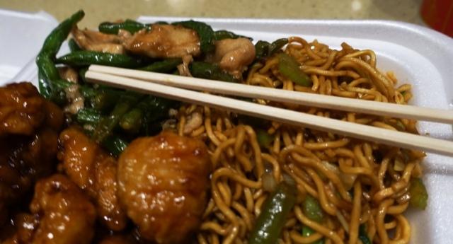 Panda Express, Chopsticks, orange chicken, string bean chicken