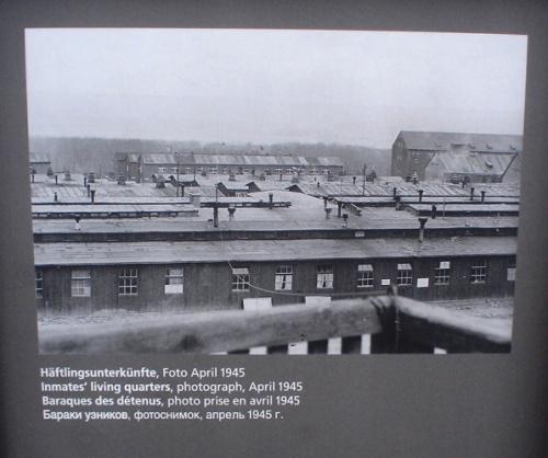 Buchenwald living quarters, Holocaust remembrance day