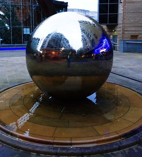 Silver Ball, Sheffield England, Night Images