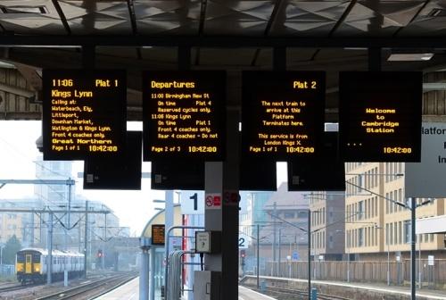 Cambridge, UK, Train Station, Trains