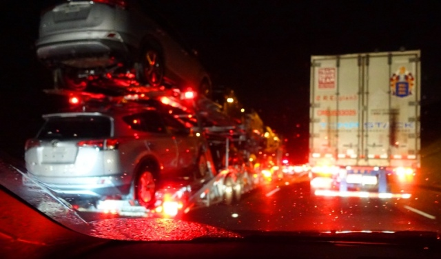 Trucks in Rain, Altamont, Stormy Weather, 580 commute