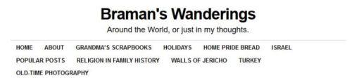 blog menu bar, blogkeeping, braman's wanderings