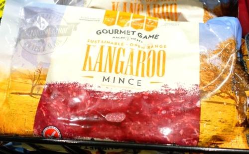 Kangaroo mince, Kangaroo hamburger, Australia