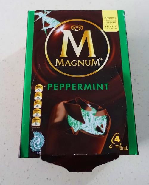 Magnum Bars, Australia Magnum Bars, peppermint