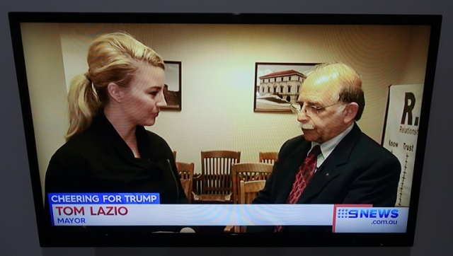 Ottumwa Iowa, Mayor Lazio, Channel 9 Sydney
