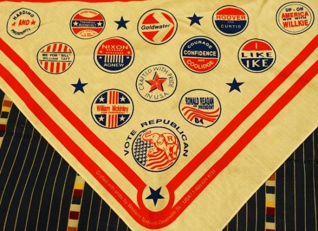 Campaign logo scarf, presidents, republican