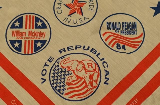 Campaign logos, presidential campaigns, Logo scarf, Western Textile