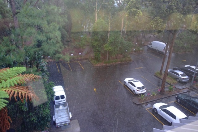 Rainy day in north ryde, australia, rain