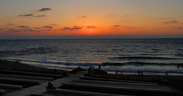 Mediterranean Sea Sunset, Joppa, Jaffa, Beach