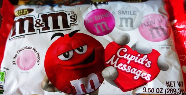 Cupid's Messages, M&M's, Large M&M's, Chocolate, Valentine's Day