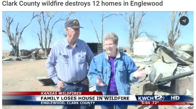 Starbuck Fire, Kansas wildfires, Englewood, Houses destroyed