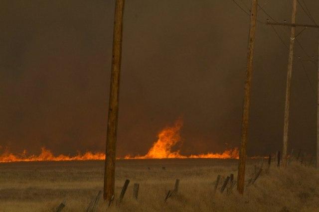 Grassfire, wildfire, Western Kansas Wildfires