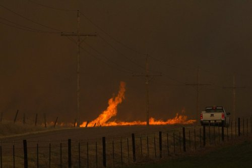 Grass fires, Kansas wildfires, southwest kansas