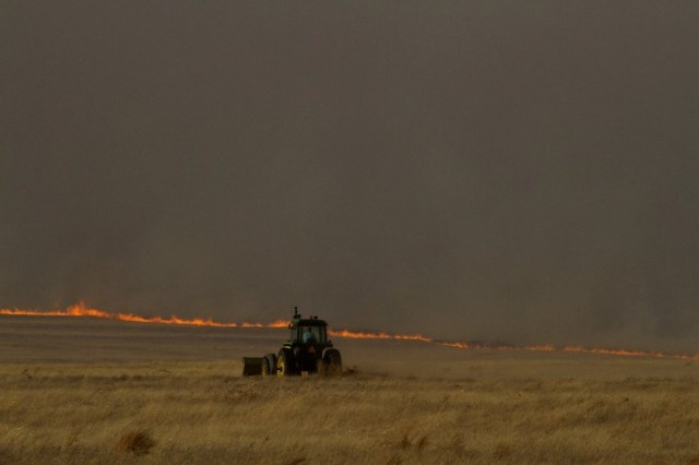 Firebreak, Tractor, Western Kansas Fires