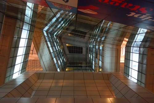 Singapore National Library, night picture, interior space