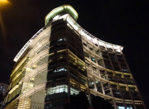 Library building, Singapore, Night shots