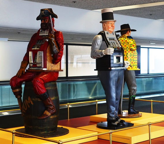 One Armed Bandits, Gambling, SFO, Airport