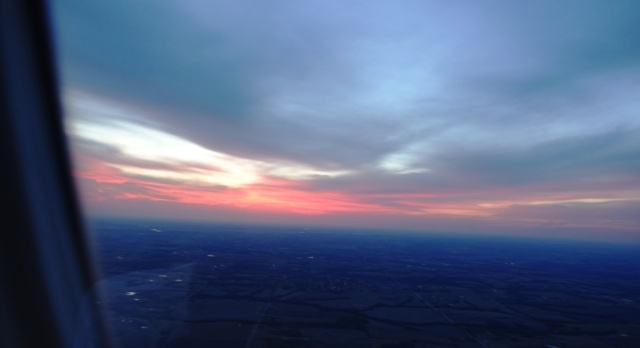 Sunset, Plane view