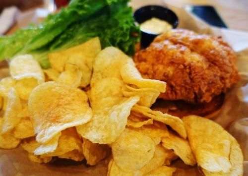 Grouper sandwich, Rusty Bellies, Sea Food