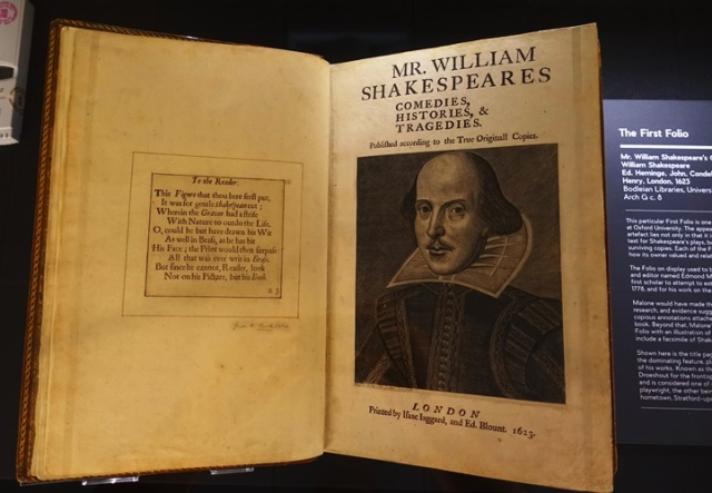 Shakespeare's First Folio, Edmond Malone, Singapore National Library