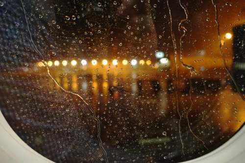 Rain at airport, MCI, Kansas City Thunderstorms.