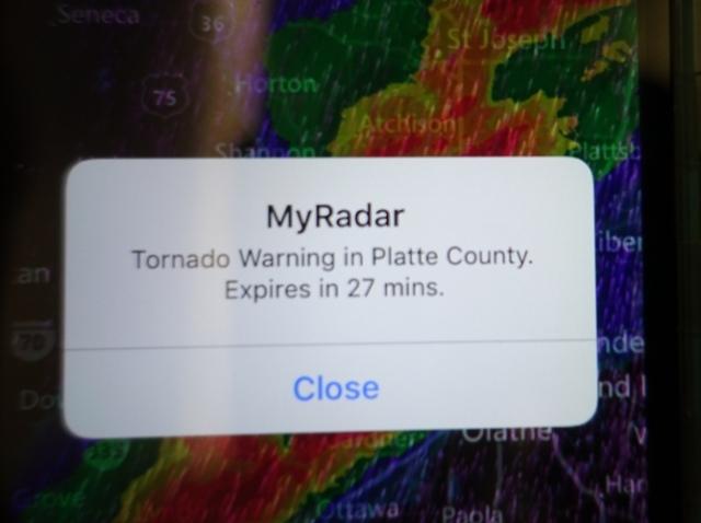 Tornado Warning, Weather App, My Radar