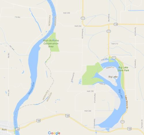 Missouri River, Rulo, Nebraska, Big Lake State Park, River Course Change