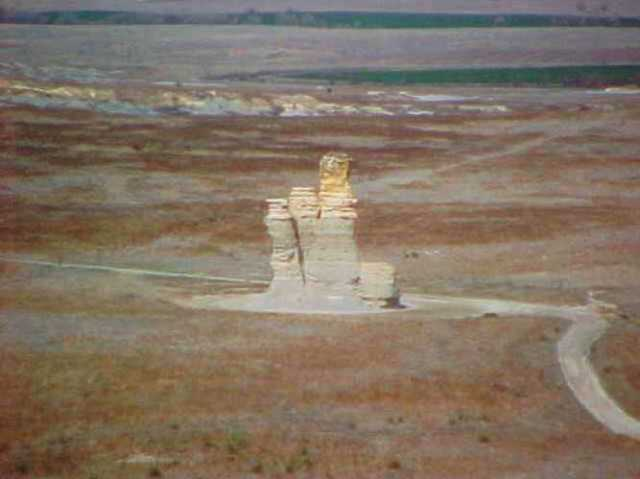 Castle Rock, Gove County, Quinter, Kansas, Rock formation