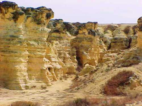 Gove County Kansas, Badlands, rock formations, Scenic Kansas, Flat Kansas