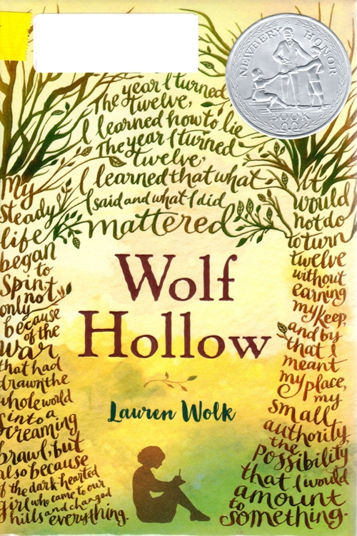 Lauren Wolk, Newbery Honor Book, Wolf Hollow