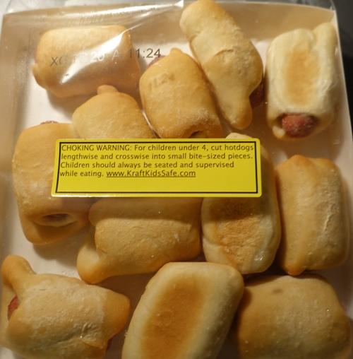 frozen bage dogs, mini bagel dogs, choking hazzard